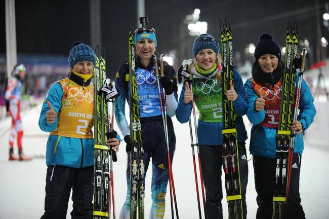 Украинские биатлонистки - Олимпийские чемпионки Сочи-2014 в эстафете