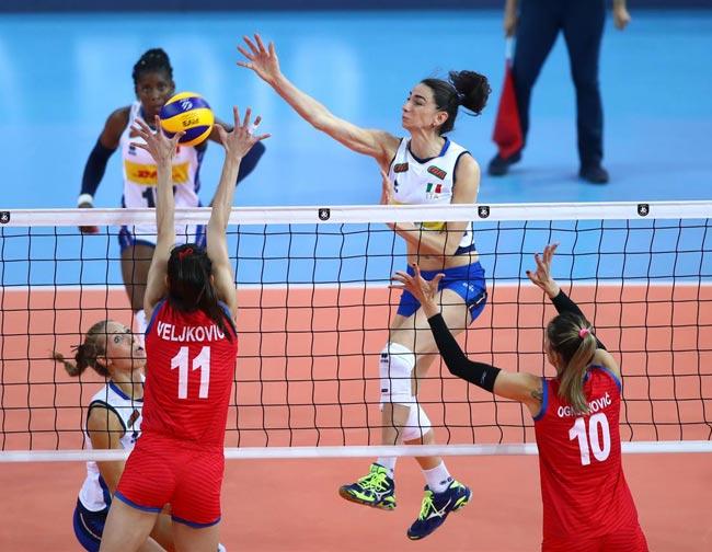 Сербские волейболистки в 3-й раз выиграли ЧЕ, победив вфинале Турцию