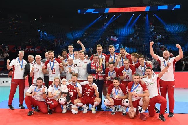 Волейбол. ЧЕ-2019 (муж). Сборная Польши завоевала бронзу, обыграв Францию
