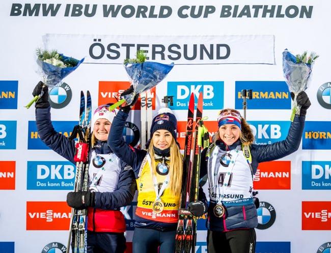 Вирер выиграла спринт на этапе Кубка мира в Эстерсунде; Вита Семеренко - десятая - «Биатлон»