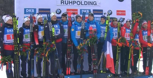 Французы выиграли эстафету на этапе Кубка мира в Рупольдинге; украинцы - восьмые