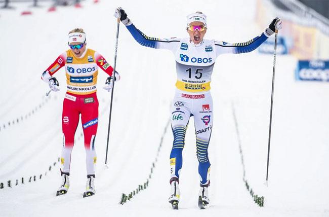 Шведская лыжница Фрида Карлссон победила в королевском марафоне в Хольменколлене (+Видео) - «Лыжные гонки»