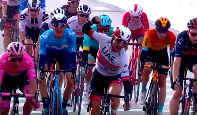«Джиро д'Италия». Диего Улисси победил на 13-м этапе; Марк Падун – 142-й