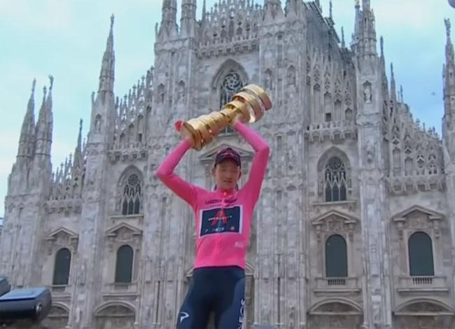 «Джиро д'Италия». Британец Тео Гэйган Харт победил в общем зачете; Марк Падун – 70-й