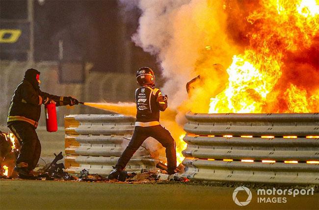 Ромен Грожан почти невредимым выходит из пламени (Видео) - «Новости спорта»