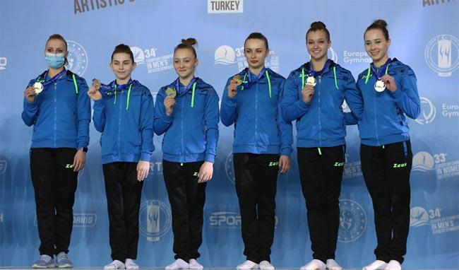 Украинки завоевали 6 медалей на женском Евро по спортивной гимнастике