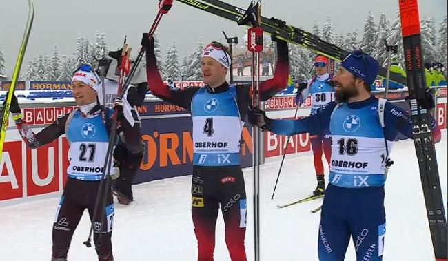 Норвежец Тарьей Бё выиграл масс-старт на шестом этапе Кубка мира; Пидручный – 20-й