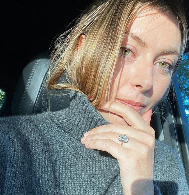 Обручальное кольцо Марии Шараповой стоит 400 тысяч долларов