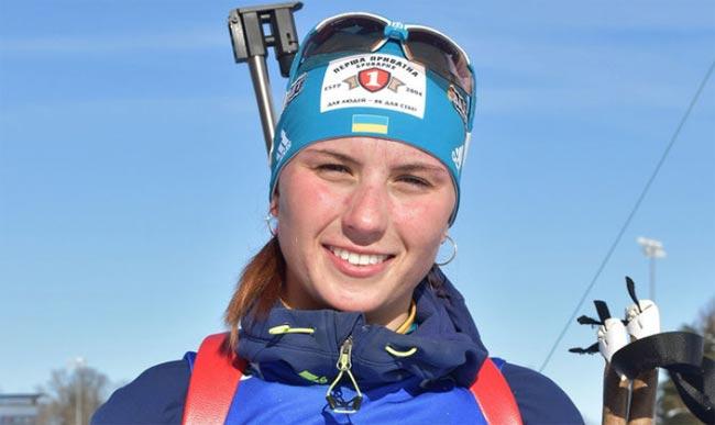 Анна Кривонос – серебряный призер в гонке преследования на четвертом этапе IBU. Фото - Facebook