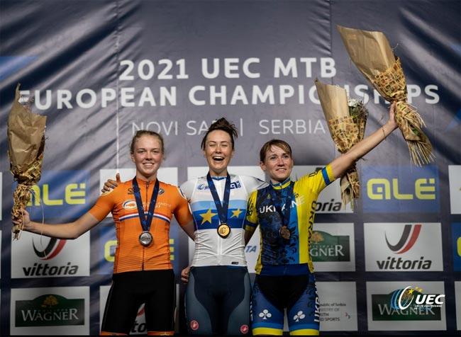 Попова – бронзовый призер ЧЕ по маунтинбайку, Гудыма победил среди юниоров