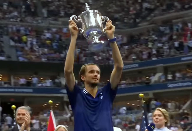 US Open. Медведев в трёх сетах обыграл Джоковича в финале